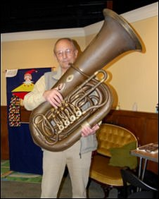 Geoff Domaille and his tuba