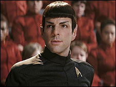 The young Spock is played by Heroes' Zachary Quinto
