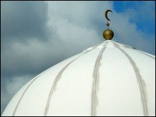 The dome of a mosque in the UK
