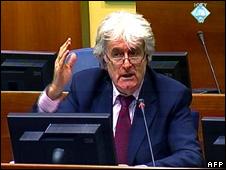 Radovan Karadzic at The Hague (2 March 2010)