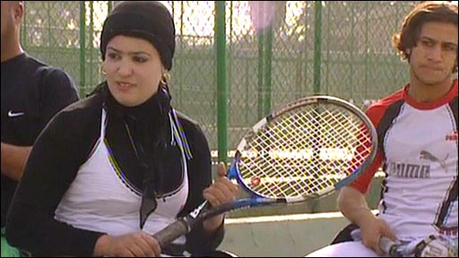 An Iraqi tennis player