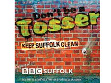 Don't be a Tosser, Keep Suffolk Clean beermat