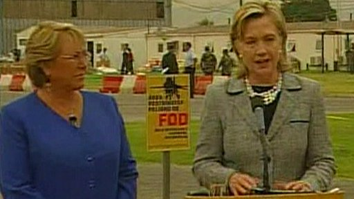 Bachelet and Clinton