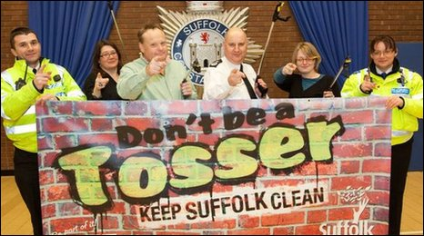Mark Murphy and the Breakfast Show team at Suffolk Constabulary