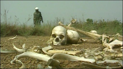 Bones from Liberia's civil war