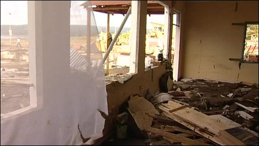 A hotel in Pichilemu left in ruins by Chile's earthquake