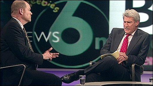 Mark Thompson and Jeremy Paxman