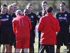 Capello speaks to his England squad this week