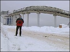 Richard Galpin at Russia's only sliding track