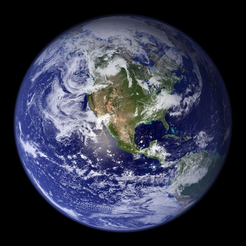 Satellite image of earth
