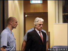 Radovan Karadzic at the Hague