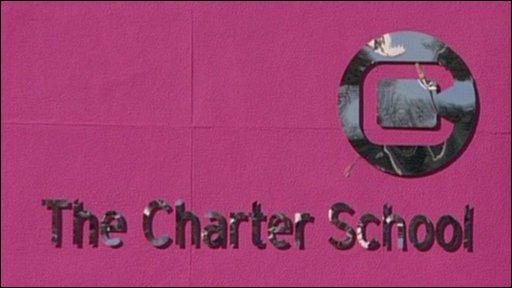 Charter School sign