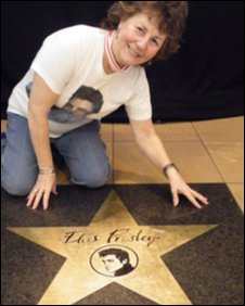 Anne with Elvis star at Prestwick. Photo by Huw Williams