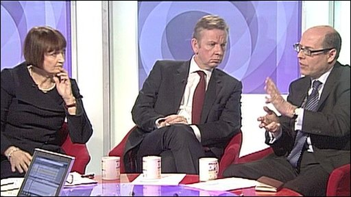 Tess Jowell, Michael Gove and Nick Robinson