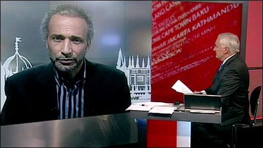NIk Gowing and Tariq Ramadan