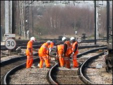 Railway maintenance workers