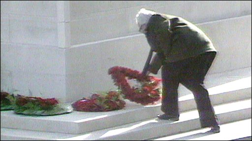 Michael Foot at the Cenotaph in 1981