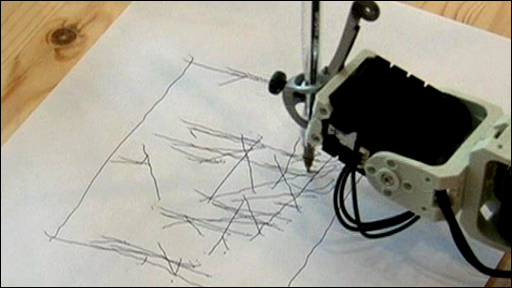 The robot that draws faces