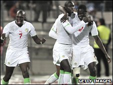 Senegal players