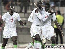 Senegal players