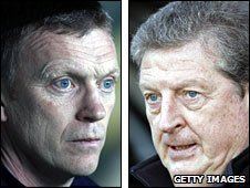 David Moyes (left) & Roy Hodgson