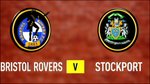 Bristol Rovers v Stockport