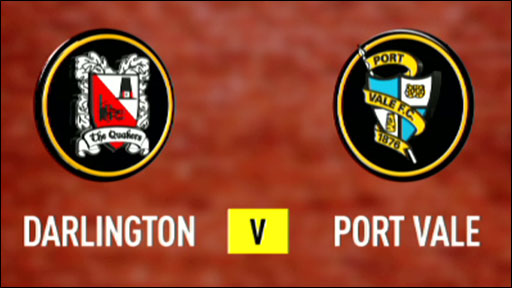 Darlington v Port Vale