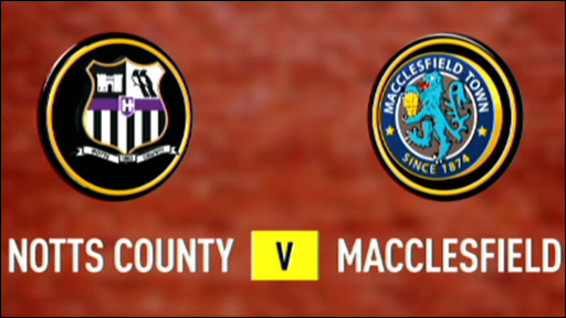 Notts County v Macclesfield