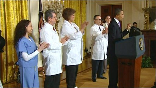 Obama gives healthcare speech