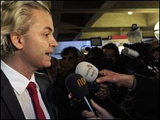 Dutch far-right leader Geert Wilders (file picture 3 February 2010)