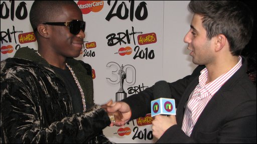 Tynchy Stryder and Ricky at the Brit Awards