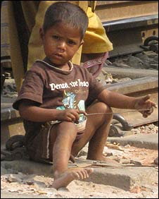 Child in a Dhaka slum