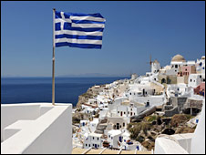 The Greek island of Santorini in the Aegean Sea. File photo