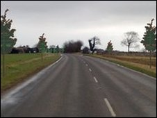 An artist's impression of how trees will look on Somerton Road in Martham, Norfolk