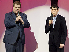 James Corden and Mat Horne