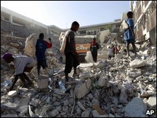 The aftermath of the Haiti earthquake