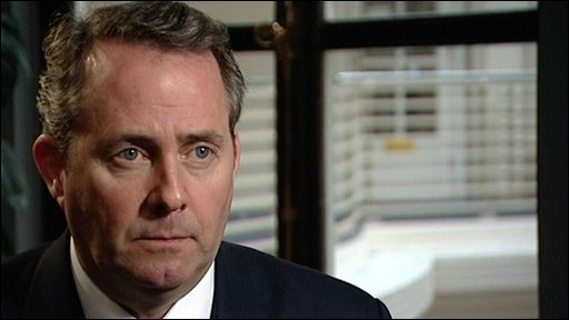 shadow defence secretary Liam Fox 