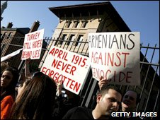 Armenian-Americans hold protest in Washington (file picture)