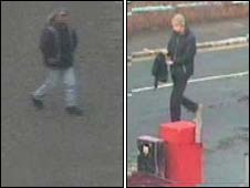 CCTV images of the men sought