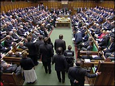 MPs in the Commons chamber