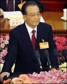 Wen Jiabao gives speech
