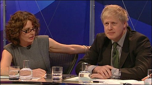 Carol Vorderman and Boris Johnson