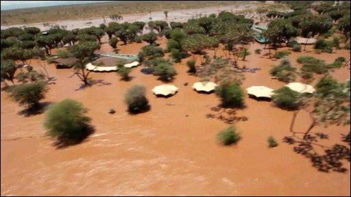 Ewaso Nyiro River floods
