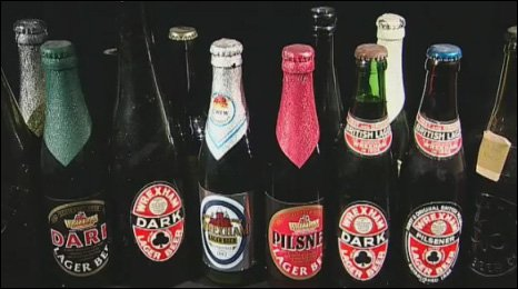 Wrexham Lager bottles