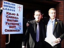 Bryan Kelso and Kevin Carroll outside Luton Magistrates' Court