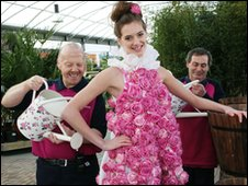 Rose dress at Dobbies