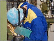 Welding apprentice