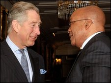 Prince Charles with Jacob Zuma