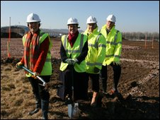 MP Dawn Primarolo and other dignitaries on the site
