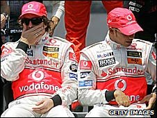 Fernando Alonso and Lewis Hamilton in 2007